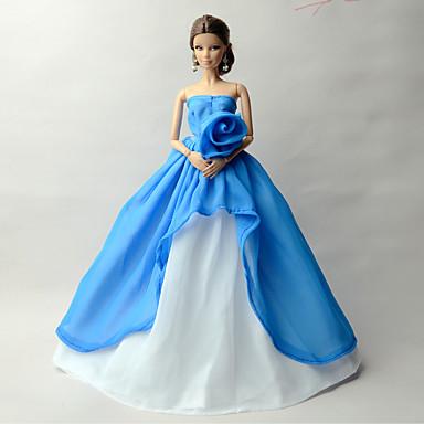 Hercegnő Ruhák mert Barbie baba Sifon Ruha mert Lány Doll Toy ... 4d6bee2248
