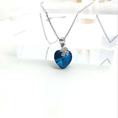 579de7e9a6ba Mujer Colgantes Zafiro Cristal Gema Cristal Diamante Sintético Diseño  Básico Amor Moda Adorable Joyería de Lujo