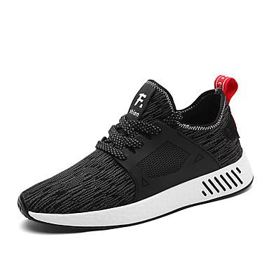 Hombre Fashion Boots Tul Primavera / Otoño Zapatillas de deporte Transpirabilidad Negro / Gris / Rojo