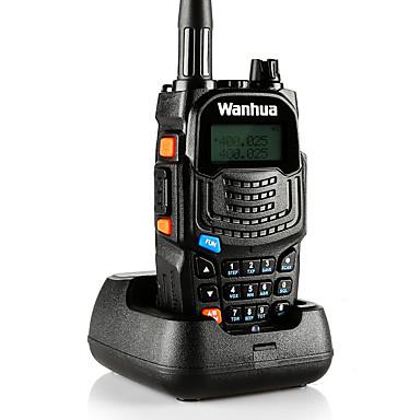 wanhua UV6S Rádio de Comunicação Portátil Analógico Função de Poupança de Energia Dual Band LCD Monitoramento > 10 km > 10 km 128 8