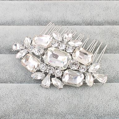 Cristal / Strass Pentes de cabelo com 1 Casamento Capacete