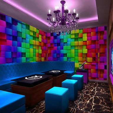 Mural Tela de pintura Revestimento de paredes - adesivo necessário Art Deco / 3D