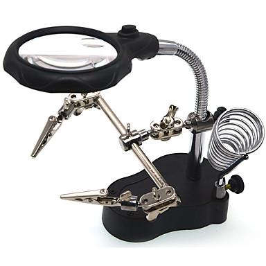 3.5/12X65 Forstørrelsesglass Høy definisjon LED Stasjonær Smykker Utstyr og verktøy Reparation af ure Leser Generelt bruk Helbelagt