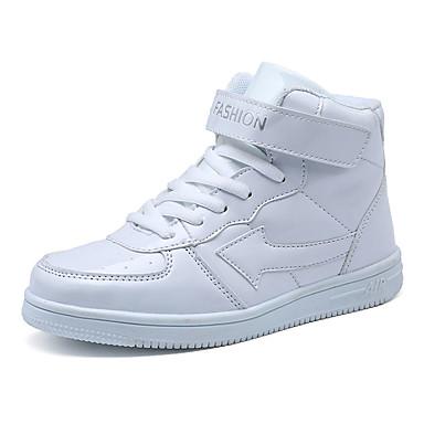 Chica Zapatos PU Primavera Confort Zapatillas de deporte Paseo Con Cordón para Blanco / Negro / Azul Real