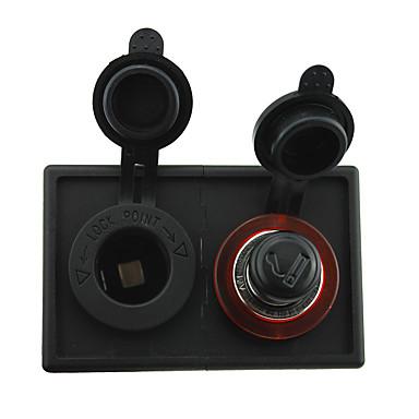 12v / 24v sigarettenner adapter og stikkontakt med boliger holder panel for bil båt lastebil rv