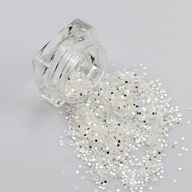 1bottle Joyas de Uñas Encantador arte de uñas Manicura pedicura Diario Glitters / Moda / Joyería de uñas