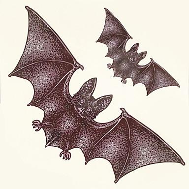 1kpl halloween tatuointi tahna väri tatuointi tarroja isompana vedenpitävä eläin