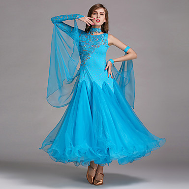 cheap Dancewear & Dance Shoes-Ballroom Dance Dresses Women's Performance Spandex / Lace / Tulle Dress