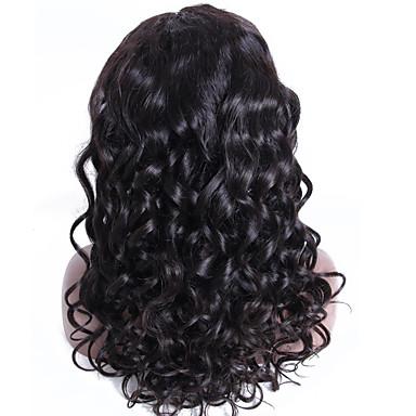 Ekte hår Halvblonder uten lim Blonde Forside Parykk Bølget Parykk 130% Hair Tetthet Naturlig hårlinje Afroamerikansk parykk 100 % håndknyttet Dame Kort Medium Lengde Lang Blondeparykker med