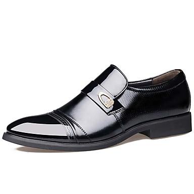 Homens Sapatos formais Couro Primavera / Outono Negócio / Conforto Oxfords Prova-de-Água Preto / Marron / Festas & Noite / Sapatos de couro