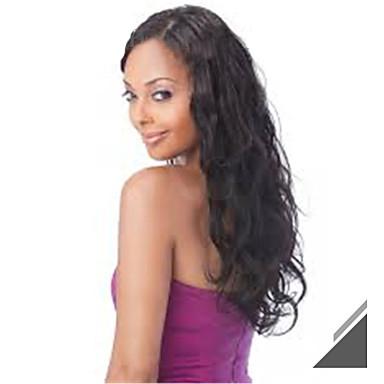 Ljudska kosa Full Lace Lace Front Perika Wavy 130% Gustoća 100% rađeno rukom Afro-američka perika Prirodna linija za kosu Kratko Medium
