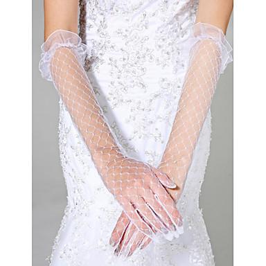 Tüll Ellbogen Länge Handschuh Brauthandschuhe klassischen weiblichen Stil