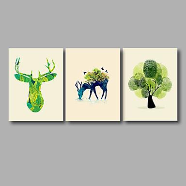 Estampados de Lonas Esticada Abstrato Modern, 3 Painéis Tela de pintura Horizontal Estampado Decoração de Parede Decoração para casa