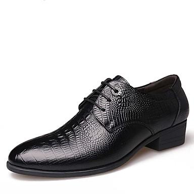 Homens sapatos Couro Primavera / Outono Conforto / Botas da Moda Oxfords Preto / Marron / Festas & Noite / Sapatos formais