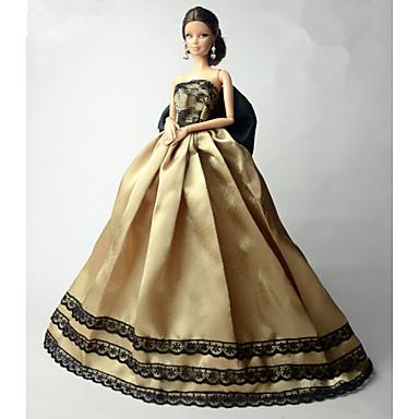 Fiesta/Noche Vestidos por Muñeca Barbie  Tela de Encaje Organdí Vestido por Chica de muñeca de juguete