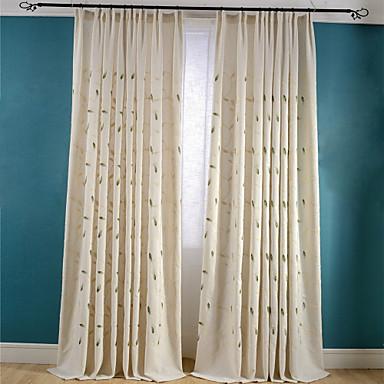 Schlaufen für Gardinenstange Ösen Schlaufen Zweifach gefaltet plissiert zwei Panele Window Treatment Neoklassisch Landhaus Stil, Stickerei