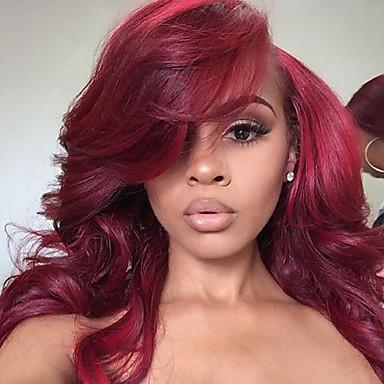 الدانتيل الجبهة الباروكات الاصطناعية نسائي تمويخ خفيف أحمر شعر مستعار صناعي شعري طبيعي أحمر شعر مستعار دانتيل في الأمام أحمر