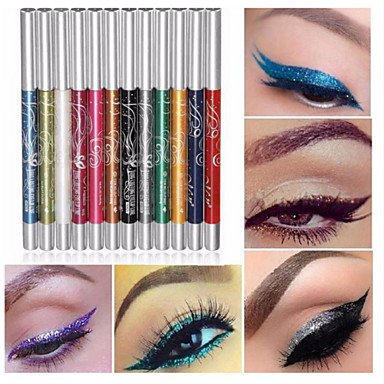 12 Colors Eyeshadow Eyebrow Pencil Eyeshadow Crayon Professional Glitter Shine Fashion 12 pcs 1160 Cosmetic Daily Makeup Halloween Makeup Party Makeup Long Lasting Cosmetic Grooming Supplies