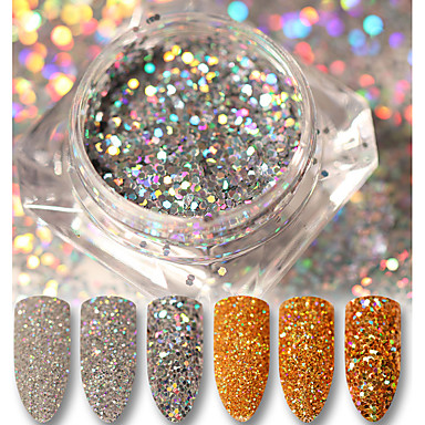 3g Glitter & Poudre / Pudder Glitters / Klassisk / Neon & Bright Daglig