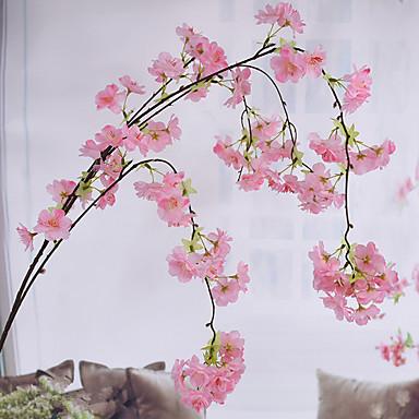 زهور اصطناعية 1 فرع النمط الرعوي ساكورا أزهار الحائط