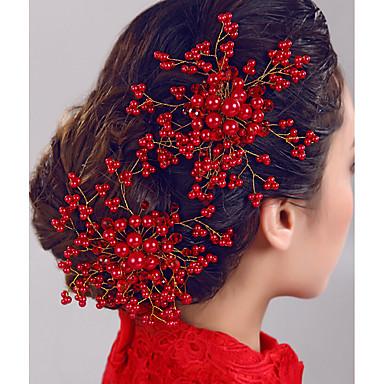 Pentes Acessórios de cabelo Pérola / Imitação de Pérola perucas Acessórios Mulheres 1pcs pçs 1-4 polegadas cm Casamento / Festa Estilo