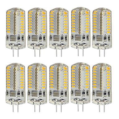 10pcs 3W 260lm G4 Luces LED de Doble Pin T 64 Cuentas LED SMD 3014 Decorativa Blanco Cálido Blanco Fresco 220V 85-265V