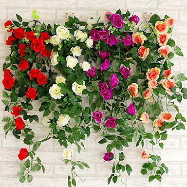 billige Bryllupsseremoni-Kunstig blomst Plast Bryllupsdekorasjoner Bryllup / Fest Blomster Tema / Klassisk Tema Vår / Sommer / Alle årstider