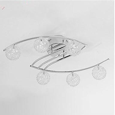 6-Light Takplafond Omgivelseslys Krom Metall LED 110-120V / 220-240V Varm Hvit / Kald Hvit Pære Inkludert / G4