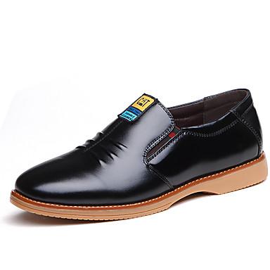 Herre sko Lær Vår / Høst Trendy støvler / Komfort En pedal Svart / Gul / Blå
