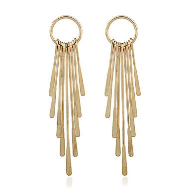 Mulheres Brincos dangle - Chapeado Dourado Dourado Para Casamento / Festa / Casual