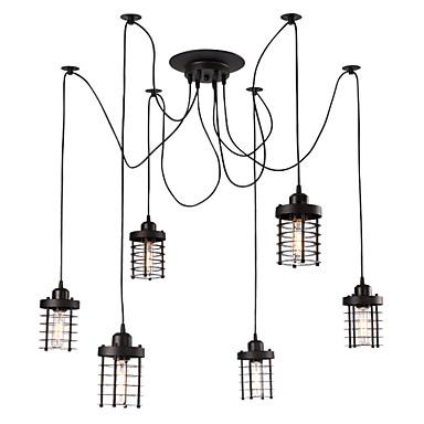 OYLYW 6-luz Luzes Pingente Luz Ambiente - Estilo Mini, 110-120V / 220-240V Lâmpada Não Incluída / 20-30㎡ / E26 / E27