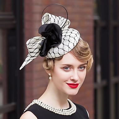 voordelige Hoeden-vlas veer fluweel netto fascinators hoeden hoofddeksel elegante stijl