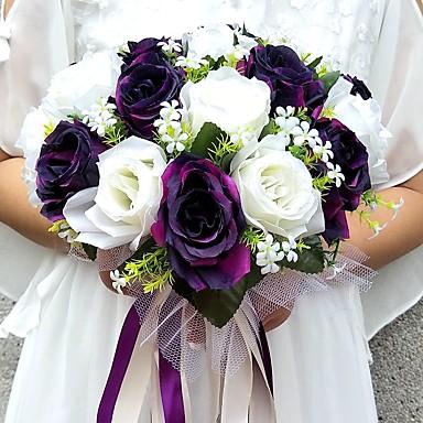 Bouquets de Noiva Buquês / Decoração de Casamento Original Ocasião Especial / Festa / Noite Cetim 11.02