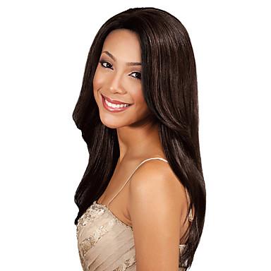 Indisk hår Yaki Klassisk Hårvever med menneskehår 1 Deler Høy kvalitet Menneskehår Vevet Daglig
