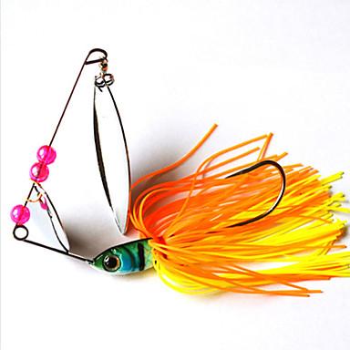 2 pcs خدع الصيد طعم صيد جامد بلاستيك / معدن الصيد العام