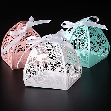 Redonda Quadrada Criativo Papel Pérola Suportes para Lembrancinhas com Fitas Estampado Caixas de Ofertas