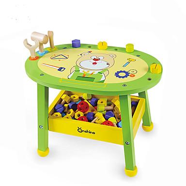Blocos de Construir Brinquedos de Faz de Conta Mobília Parafuso Chave de Fenda Martelo Chave Madeira Sólida Simulação Turmalina de