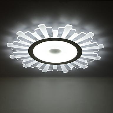 Takplafond Omgivelseslys Malte Finishes PVC LED 110-120V / 220-240V Hvit LED lyskilde inkludert / Integrert LED