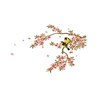 Dyr Mote Botanisk Veggklistremerker Fly vægklistermærker Dekorative Mur Klistermærker, Vinyl Hjem Dekor Veggoverføringsbilde Vegg Glass /
