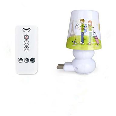 fjernkontroll intelligent night babyen soverom nattbordlampen timing lys