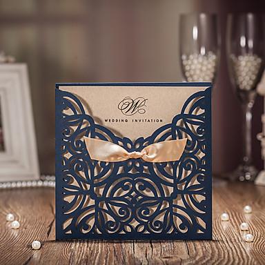 Tarjeta plana Invitaciones De Boda 50 - Tarjetas de invitación / Tarjetas de Agradecimiento / Tarjetas de respuesta Estilo artístico Papel de tarjeta Cintas