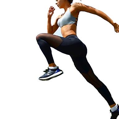 Mulheres Patchwork / See Through Calças de Yoga Esportes Sexy, Moderno Grade, Lycra Calças Pilates, Exercício e Atividade Física, Corrida
