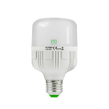 1pc 14W 1200-1350lm E26 / E27 LED-globepærer 30 LED perler SMD 2835 Dekorativ Varm hvit Kjølig hvit 85-265V