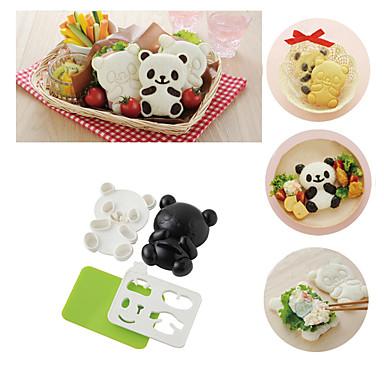 4in1 bebê panda molde arroz onigiri assado cortador de algas cozinha ferramentas