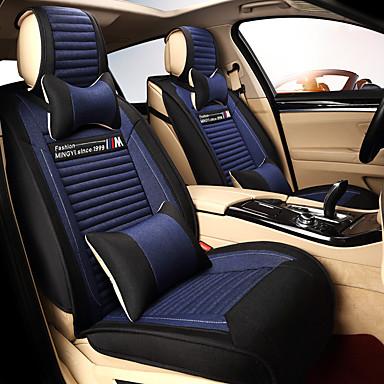 preiswerte Innenraum Autozubehör-Auto Sitzkissen Leinenkissen vier Jahreszeiten Universalsitzbezug atmungsaktiv und bequem ein Set von fünf