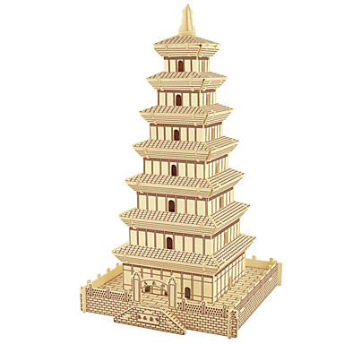 Wooden Puzzle Tower Famous buildings Chinese Architecture Professional Level Wooden 1 pcs Boys' Girls' Toy Gift