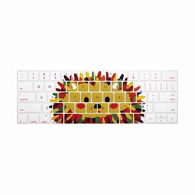 xskn® engelsk pinnsvin silikon tastatur hud og berøringsfeltet beskytter for 2016 nyeste macbook pro 13.3 / 15.4 med berørings bar hinnen