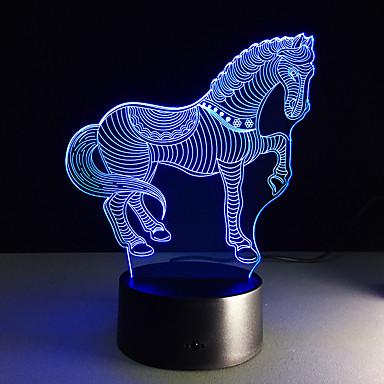1 stk 3D nattlys Fjernkontroll Nattsyn Liten størrelse Fargeskiftende Kunstnerisk LED Moderne / Nutidig