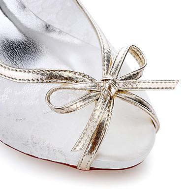 Soirée Mariage Soirée Habillé amp; à ouvert Soie Chaussures Femme Eté Evénement Evénement Chaussures Automne amp; Talons Bout Blanc Talon 05611927 Printemps Aiguille AUOnwfqn6
