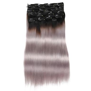 Clip In Hiukset Extensions Aidot hiukset Suora Päivittäin